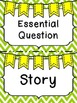Reading Wonders Headers Freebie Green Chevron Background