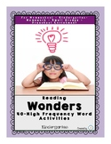 Reading Wonders High Frequency Word Activities for Kindergarten