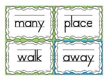 Reading Wonders High Frequency Word Wall Cards for 1st Grade