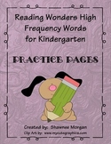 Reading Wonders High Frequency Words - Practice Pages for