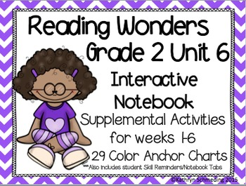 Reading Wonders Grade 2 Unit 6 Interactive Notebook/Anchor Charts