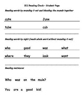 Reading Wonders K Unit 10 Weekly Reading Assessment