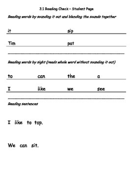 Reading Wonders K Unit 3 Weekly Reading Assessments