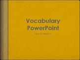 Reading Wonders K Vocabulary Unit 10 Week 1