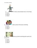 Reading Wonders K Vocabulary Unit 10 Week 1 Assessment