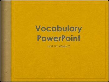 Reading Wonders K Vocabulary Unit 10 Week 2