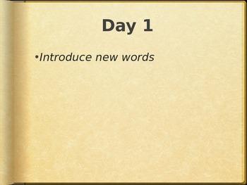 Reading Wonders K Vocabulary Unit 10 Week 3