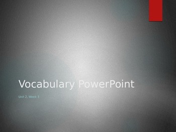 Reading Wonders K Vocabulary Unit 2 Week 3