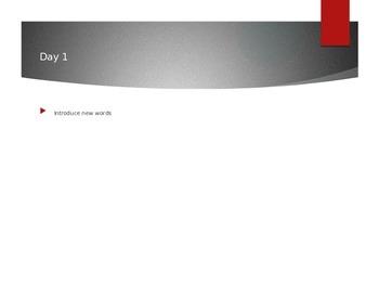 Reading Wonders K Vocabulary Unit 3 Week 1