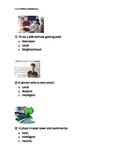 Reading Wonders K Vocabulary Unit 3 Week 3 Assessment