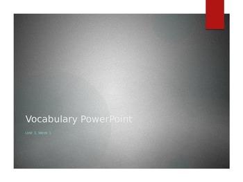 Reading Wonders K Vocabulary Unit 3 (all 3 weeks)