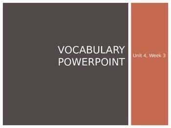 Reading Wonders K Vocabulary Unit 4 Week 3