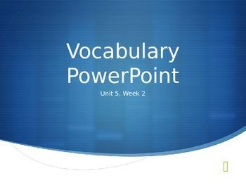 Reading Wonders K Vocabulary Unit 5 Week 2