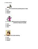 Reading Wonders K Vocabulary Unit 5 Week 3 Assessment