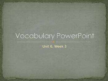 Reading Wonders K Vocabulary Unit 6 Week 3