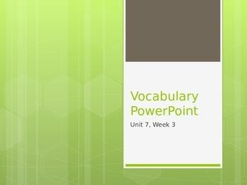 Reading Wonders K Vocabulary Unit 7 Week 3