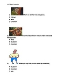 Reading Wonders K Vocabulary Unit 7 Week 3 Assessment
