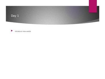 Reading Wonders K Vocabulary Unit 8 (all 3 weeks)