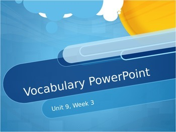 Reading Wonders K Vocabulary Unit 9 Week 3