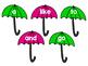 Reading Wonders Kg. Sight Word Umbrellas and raindrops