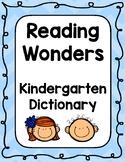 Reading Wonders Kindergarten Dictionary