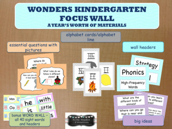 Reading Wonders Kindergarten Focus Wall - A Year's Worth of Materials