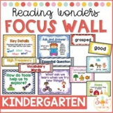 Kindergarten Focus Wall BUNDLE (aligned with Reading Wonders)