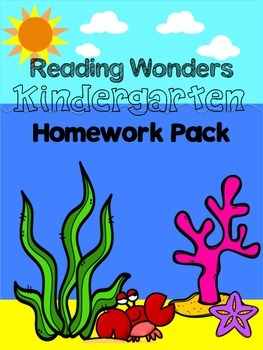 Reading Wonders Kindergarten Homework Pack