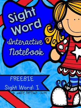 "Wonders Kindergarten Sight Word Interactive Notebook - FREEBIE ""I"""