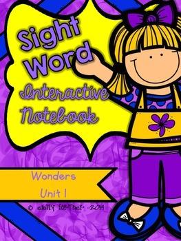 Wonders Kindergarten Sight Word Interactive Notebook UNIT 1