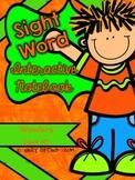 Wonders Kindergarten Sight Word Interactive Notebook UNIT 10