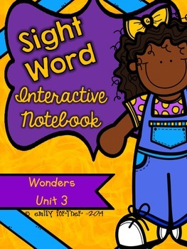 Wonders Kindergarten Sight Word Interactive Notebook UNIT 3