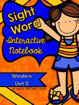 Wonders Kindergarten Sight Word Interactive Notebook UNIT 5