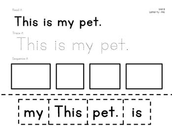 Reading Wonders Kindergarten Sight Word Sentences Units 7 and 8