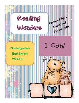 Reading Wonders Kindergarten Start Smart Week 3