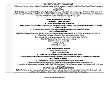 McGraw-Hill Reading Wonders Kinder UNIT 6 WEEKS 1-3 Whole Group Plans **BUNDLE**