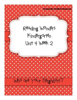 Reading Wonders Kindergarten Unit 4 Week 2