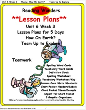 Reading Wonders       Lesson Plan          Unit 6 Week 3