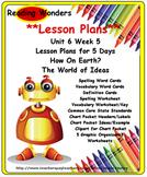 Reading Wonders     Lesson Plan     Unit 6 Week 5