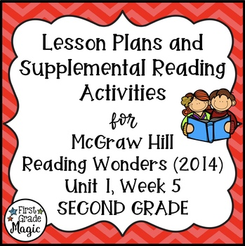 Second Grade Reading Wonders Lesson Plans and Extra Activities Unit 1 Week 5