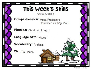 Second Grade Reading Wonders Lesson Plans and Extra Activities Unit 2 Week 1