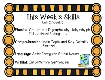 First Grade Reading Wonders Lesson Plans and Extra Activities Unit 2 Week 5