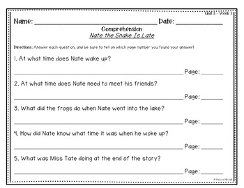 First Grade Reading Wonders Lesson Plans and Extra Activities Unit 3 Week 1