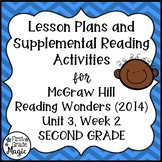 Second Grade Reading Wonders Lesson Plans and Extra Activities Unit 3 Week 2