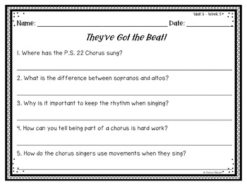 Second Grade Reading Wonders Lesson Plans and Extra Activities Unit 3 Week 5