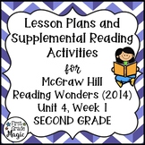 Second Grade Reading Wonders Lesson Plans and Extra Activities Unit 4 Week 1