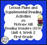 First Grade Reading Wonders Lesson Plans and Extra Activities Unit 4 Week 2