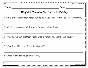 Second Grade Reading Wonders Lesson Plans and Extra Activities Unit 4 Week 4