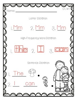 Reading Wonders Letter and Word Dictation
