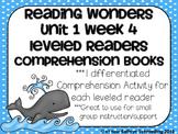 Reading Wonders Leveled Reader Comprehension Books  Gr. 2 Unit 1 Wk. 4